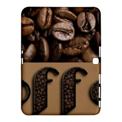 Funny Coffee Beans Brown Typography Samsung Galaxy Tab 4 (10.1 ) Hardshell Case