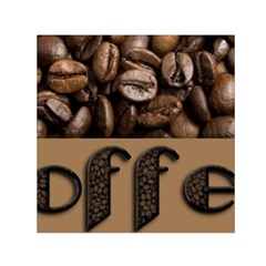 Funny Coffee Beans Brown Typography Small Satin Scarf (Square)