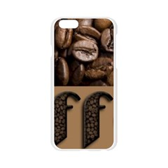 Funny Coffee Beans Brown Typography Apple Seamless iPhone 6/6S Case (Transparent)