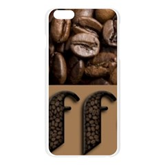 Funny Coffee Beans Brown Typography Apple Seamless iPhone 6 Plus/6S Plus Case (Transparent)