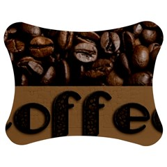 Funny Coffee Beans Brown Typography Jigsaw Puzzle Photo Stand (bow)