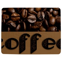 Funny Coffee Beans Brown Typography Jigsaw Puzzle Photo Stand (Rectangular)
