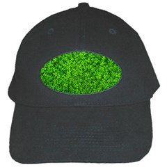 Shamrock Clovers Green Irish St  Patrick Ireland Good Luck Symbol 8000 Sv Black Cap