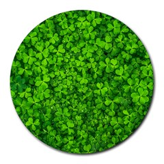 Shamrock Clovers Green Irish St  Patrick Ireland Good Luck Symbol 8000 Sv Round Mousepads