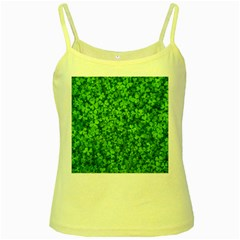 Shamrock Clovers Green Irish St  Patrick Ireland Good Luck Symbol 8000 Sv Yellow Spaghetti Tank