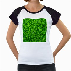 Shamrock Clovers Green Irish St  Patrick Ireland Good Luck Symbol 8000 Sv Women s Cap Sleeve T