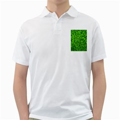Shamrock Clovers Green Irish St  Patrick Ireland Good Luck Symbol 8000 Sv Golf Shirts