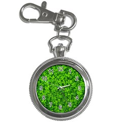Shamrock Clovers Green Irish St  Patrick Ireland Good Luck Symbol 8000 Sv Key Chain Watches