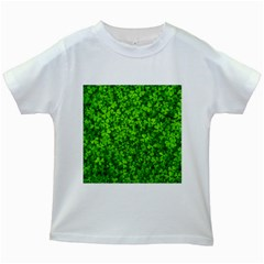 Shamrock Clovers Green Irish St  Patrick Ireland Good Luck Symbol 8000 Sv Kids White T-Shirts