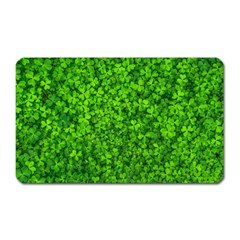 Shamrock Clovers Green Irish St  Patrick Ireland Good Luck Symbol 8000 Sv Magnet (rectangular)