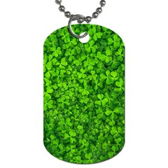 Shamrock Clovers Green Irish St  Patrick Ireland Good Luck Symbol 8000 Sv Dog Tag (Two Sides)