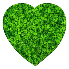 Shamrock Clovers Green Irish St  Patrick Ireland Good Luck Symbol 8000 Sv Jigsaw Puzzle (heart)