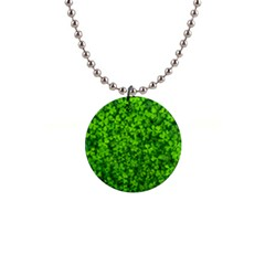 Shamrock Clovers Green Irish St  Patrick Ireland Good Luck Symbol 8000 Sv Button Necklaces