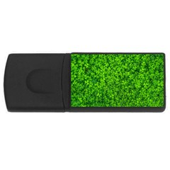 Shamrock Clovers Green Irish St  Patrick Ireland Good Luck Symbol 8000 Sv Usb Flash Drive Rectangular (4 Gb)