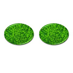 Shamrock Clovers Green Irish St  Patrick Ireland Good Luck Symbol 8000 Sv Cufflinks (oval)