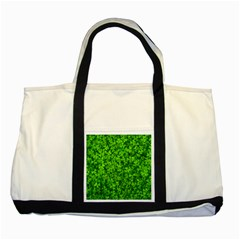 Shamrock Clovers Green Irish St  Patrick Ireland Good Luck Symbol 8000 Sv Two Tone Tote Bag