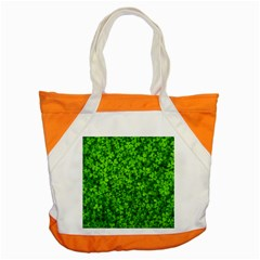 Shamrock Clovers Green Irish St  Patrick Ireland Good Luck Symbol 8000 Sv Accent Tote Bag