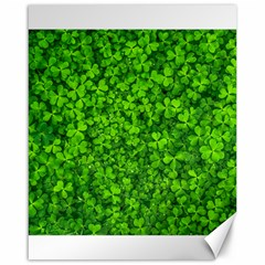 Shamrock Clovers Green Irish St  Patrick Ireland Good Luck Symbol 8000 Sv Canvas 16  X 20