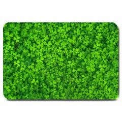 Shamrock Clovers Green Irish St  Patrick Ireland Good Luck Symbol 8000 Sv Large Doormat