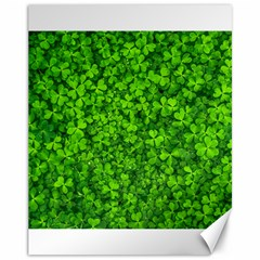Shamrock Clovers Green Irish St  Patrick Ireland Good Luck Symbol 8000 Sv Canvas 11  X 14
