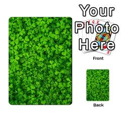 Shamrock Clovers Green Irish St  Patrick Ireland Good Luck Symbol 8000 Sv Multi Purpose Cards (rectangle)
