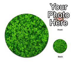 Shamrock Clovers Green Irish St  Patrick Ireland Good Luck Symbol 8000 Sv Multi Purpose Cards (round)
