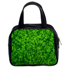 Shamrock Clovers Green Irish St  Patrick Ireland Good Luck Symbol 8000 Sv Classic Handbags (2 Sides)