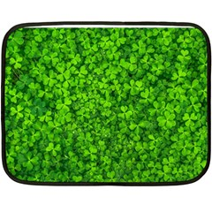 Shamrock Clovers Green Irish St  Patrick Ireland Good Luck Symbol 8000 Sv Double Sided Fleece Blanket (mini)