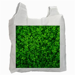 Shamrock Clovers Green Irish St  Patrick Ireland Good Luck Symbol 8000 Sv Recycle Bag (one Side)