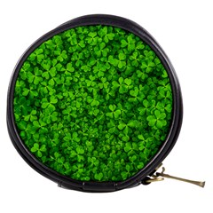 Shamrock Clovers Green Irish St  Patrick Ireland Good Luck Symbol 8000 Sv Mini Makeup Bags
