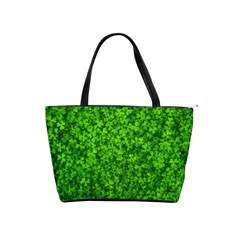 Shamrock Clovers Green Irish St  Patrick Ireland Good Luck Symbol 8000 Sv Shoulder Handbags