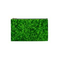 Shamrock Clovers Green Irish St  Patrick Ireland Good Luck Symbol 8000 Sv Cosmetic Bag (small)