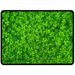Shamrock Clovers Green Irish St  Patrick Ireland Good Luck Symbol 8000 Sv Fleece Blanket (large)