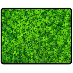 Shamrock Clovers Green Irish St  Patrick Ireland Good Luck Symbol 8000 Sv Fleece Blanket (medium)