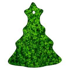 Shamrock Clovers Green Irish St  Patrick Ireland Good Luck Symbol 8000 Sv Ornament (christmas Tree)