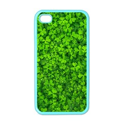 Shamrock Clovers Green Irish St  Patrick Ireland Good Luck Symbol 8000 Sv Apple Iphone 4 Case (color)