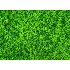 Shamrock Clovers Green Irish St  Patrick Ireland Good Luck Symbol 8000 Sv Birthday Cake 3d Greeting Card (7x5)
