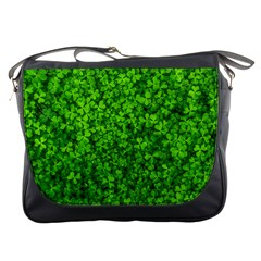 Shamrock Clovers Green Irish St  Patrick Ireland Good Luck Symbol 8000 Sv Messenger Bags