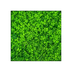 Shamrock Clovers Green Irish St  Patrick Ireland Good Luck Symbol 8000 Sv Acrylic Tangram Puzzle (4  X 4 )