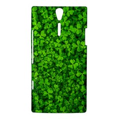 Shamrock Clovers Green Irish St  Patrick Ireland Good Luck Symbol 8000 Sv Sony Xperia S