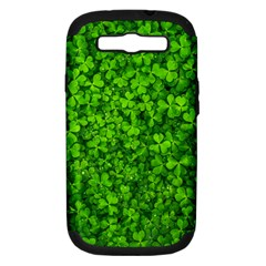 Shamrock Clovers Green Irish St  Patrick Ireland Good Luck Symbol 8000 Sv Samsung Galaxy S Iii Hardshell Case (pc+silicone)