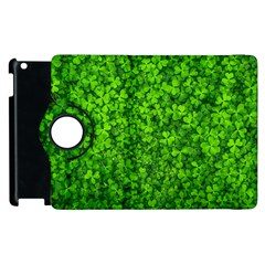 Shamrock Clovers Green Irish St  Patrick Ireland Good Luck Symbol 8000 Sv Apple Ipad 2 Flip 360 Case