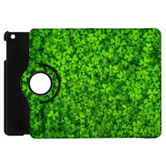Shamrock Clovers Green Irish St  Patrick Ireland Good Luck Symbol 8000 Sv Apple Ipad Mini Flip 360 Case