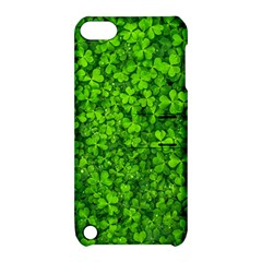 Shamrock Clovers Green Irish St  Patrick Ireland Good Luck Symbol 8000 Sv Apple Ipod Touch 5 Hardshell Case With Stand