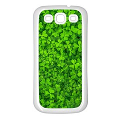 Shamrock Clovers Green Irish St  Patrick Ireland Good Luck Symbol 8000 Sv Samsung Galaxy S3 Back Case (white)