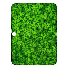 Shamrock Clovers Green Irish St  Patrick Ireland Good Luck Symbol 8000 Sv Samsung Galaxy Tab 3 (10 1 ) P5200 Hardshell Case