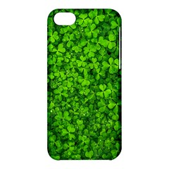 Shamrock Clovers Green Irish St  Patrick Ireland Good Luck Symbol 8000 Sv Apple Iphone 5c Hardshell Case
