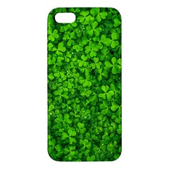 Shamrock Clovers Green Irish St  Patrick Ireland Good Luck Symbol 8000 Sv Iphone 5s/ Se Premium Hardshell Case