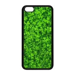 Shamrock Clovers Green Irish St  Patrick Ireland Good Luck Symbol 8000 Sv Apple Iphone 5c Seamless Case (black)