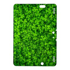 Shamrock Clovers Green Irish St  Patrick Ireland Good Luck Symbol 8000 Sv Kindle Fire Hdx 8 9  Hardshell Case